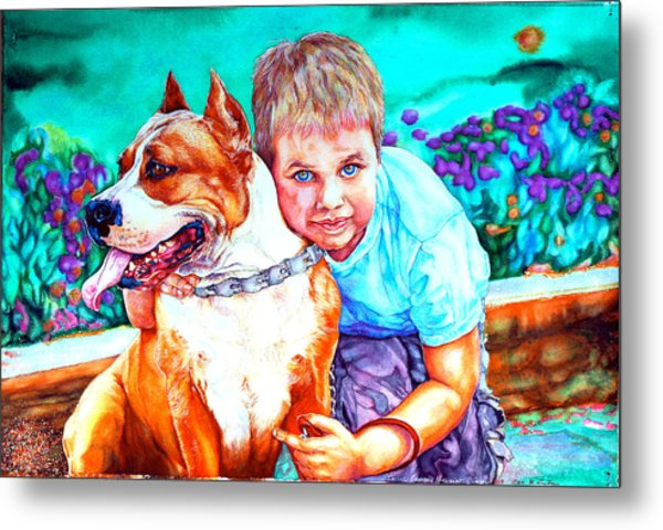 Metal Print featuring the painting Zac And Zuzu by Xavier Francois