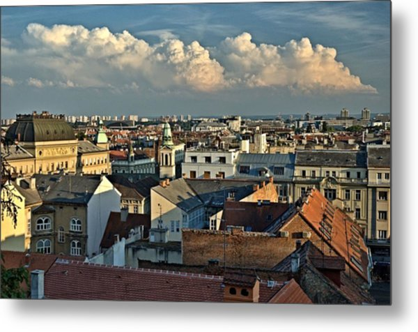 Zagreb Rooftops Metal Print
