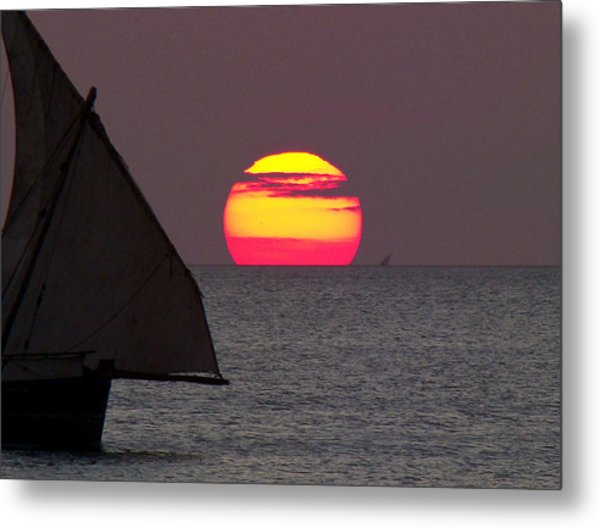 Zanzibar Sunset Metal Print by Giorgio Darrigo