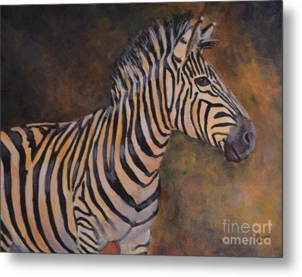 Zebra Metal Print by Jana Baker