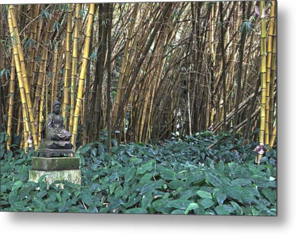 Zen Bamboo Metal Print