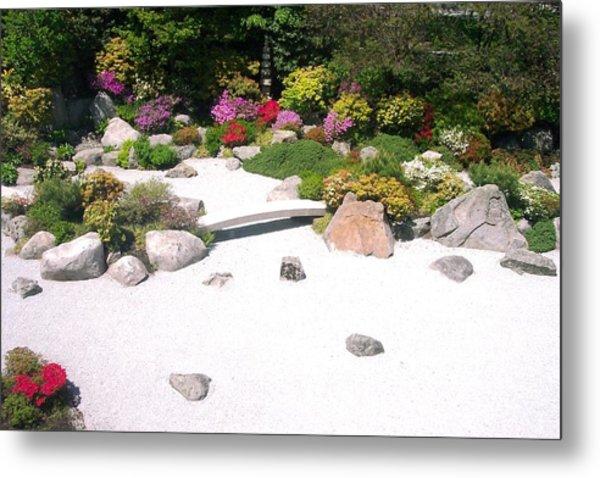 Zen Garden Metal Print by Pamela Schreckengost