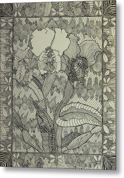 Zen Orchids Metal Print