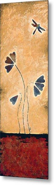 Zen Splendor - Dragonfly Art By Sharon Cummings. Metal Print