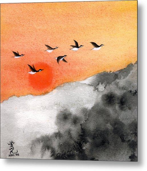 Zen Sunset Metal Print
