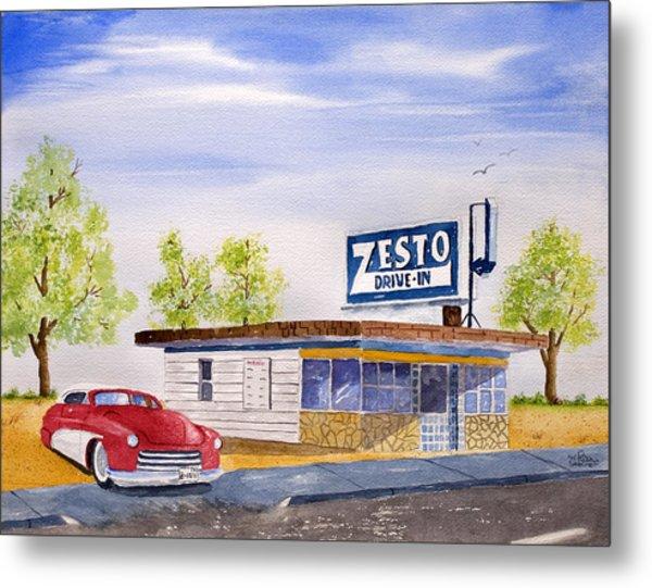 Zesto Drive In Metal Print