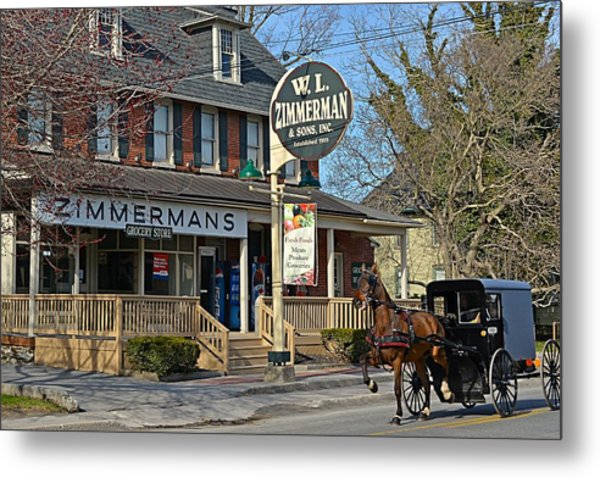 Zimmerman's Store Intercourse Pennsylvania Metal Print