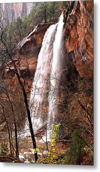 Zion Falls Metal Print