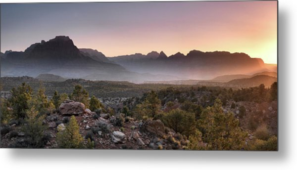 Zion Sunrise Metal Print by Leland D Howard