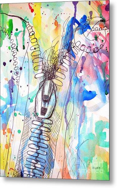 Zip It Metal Print by Josie Duff