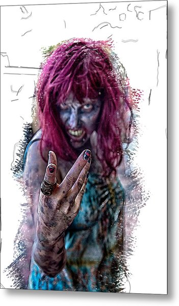 Zombie Want You Metal Print by John Haldane