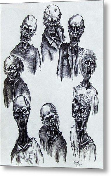 Zombies Metal Print