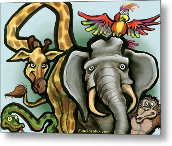 Zoo Animals Metal Print
