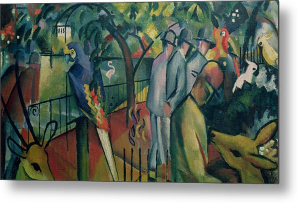 Zoological Garden I, 1912 Oil On Canvas Metal Print