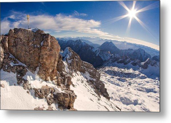 Zugspitze Summit Metal Print