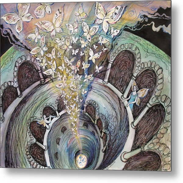Ascension Of Butterflies Metal Print