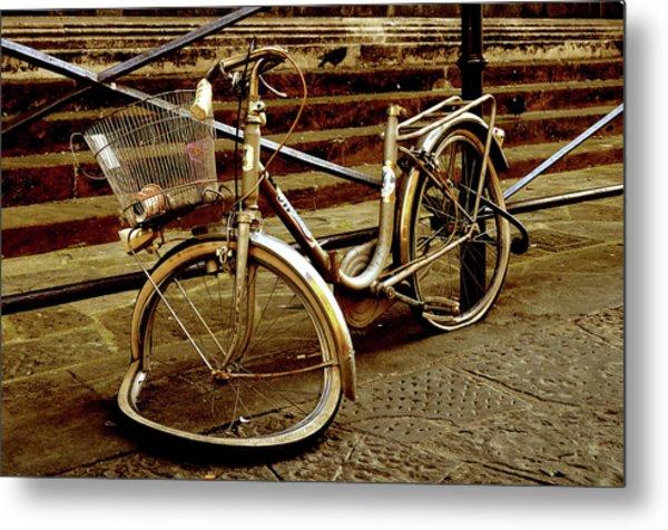 Bicycle Breakdown Metal Print