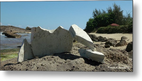 Concrete On The Rock Metal Print by Frances G Aponte