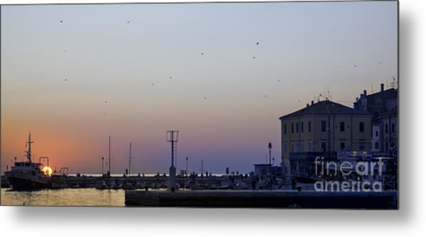 End Of The Day In Rovinj Metal Print