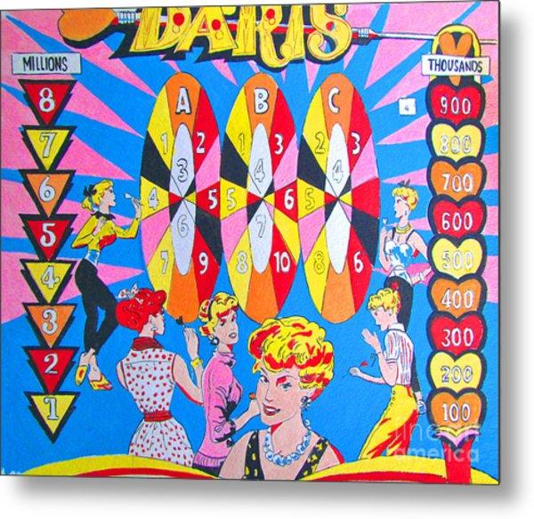 Girl Darts Metal Print