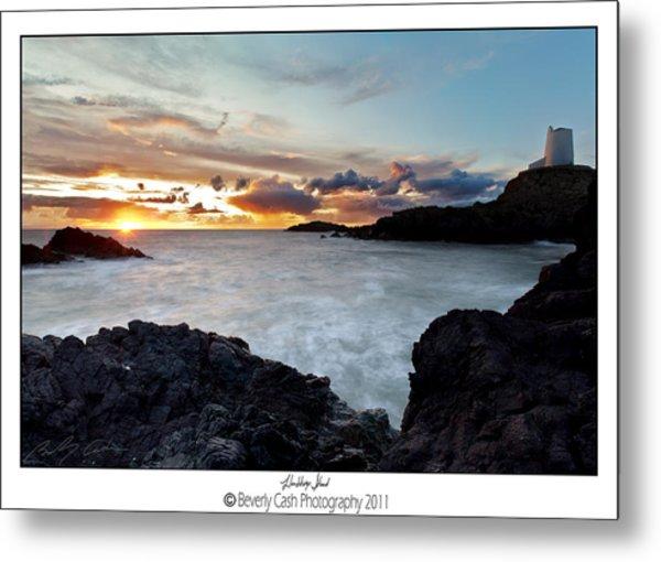 Llanddwyn Island Sunset Metal Print