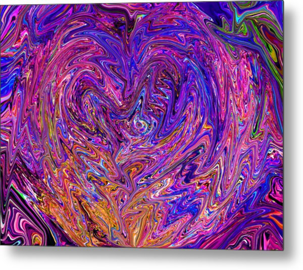 Love From The Ripple Of Thought  V 6  Metal Print