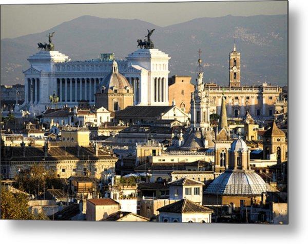 Rome's Rooftops Metal Print
