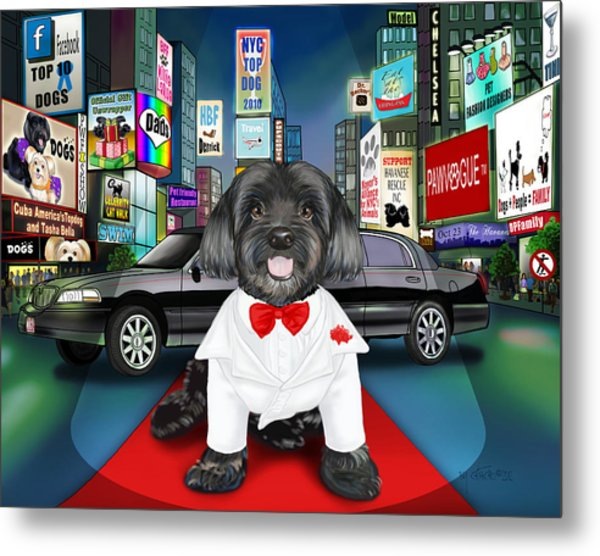 Sir Cuba Of Chelsea In Times Square Nyc Metal Print