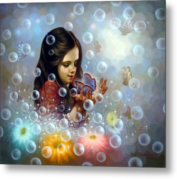 Soap Bubble Girl 2 Metal Print
