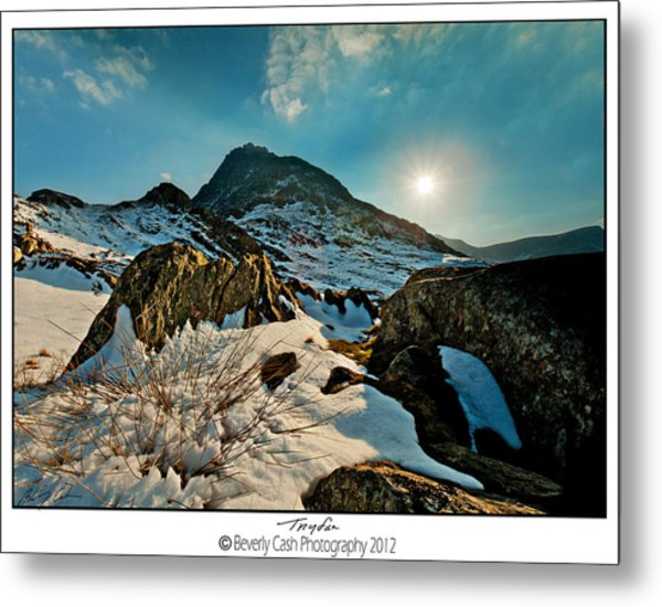 Spring Snows At Tryfan Metal Print