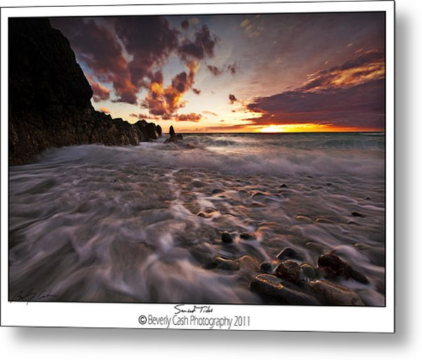 Sunset Tides - Porth Swtan Metal Print
