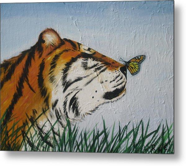 '' Tiger Colors'' Metal Print by Mccormick  Arts
