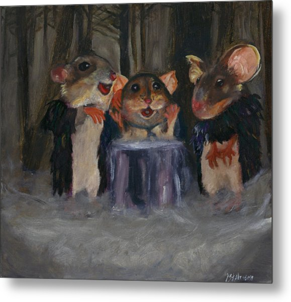 Toby Gingy And Winkle As The Witches In Macbeth Metal Print