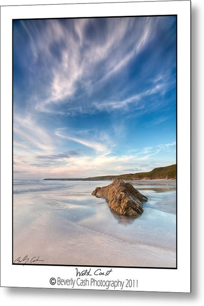 Welsh Coast - Porth Colmon Metal Print