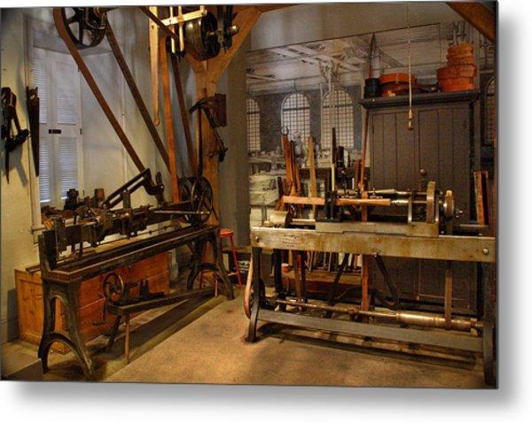 18th Century Machine Shop Metal Print