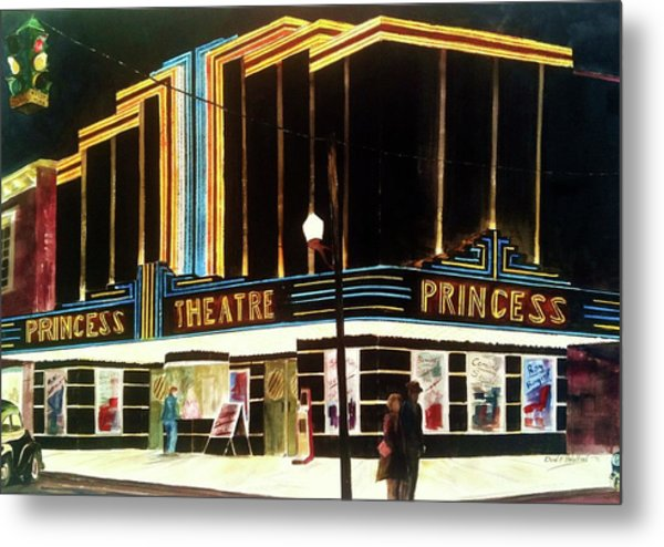 1947 Saturday Night At The Princess Metal Print by Don F  Bradford