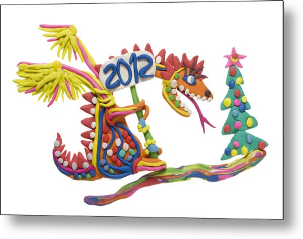 2012 - Year Of The Red Dragon Metal Print by Aleksandr Volkov