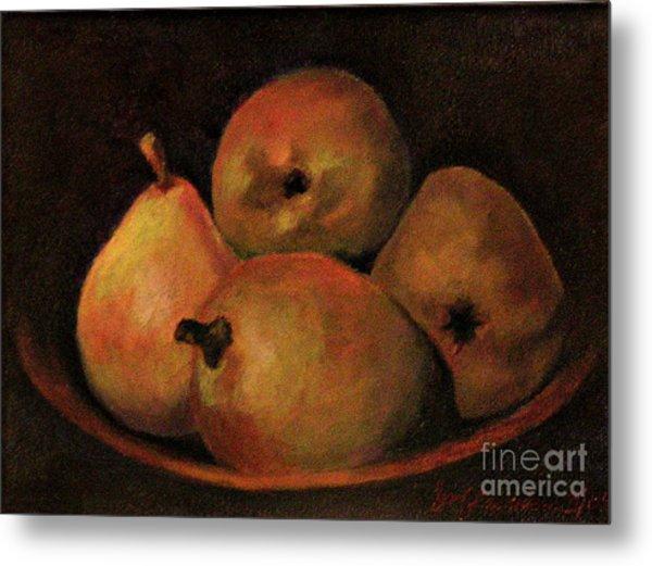 4 Pears Metal Print