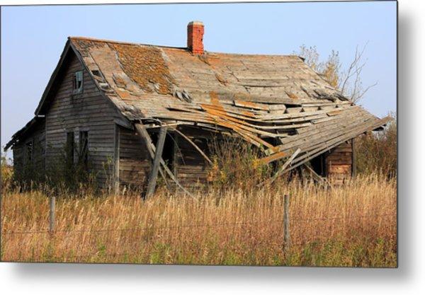 Abandoned Alberta Prairie Home Metal Print