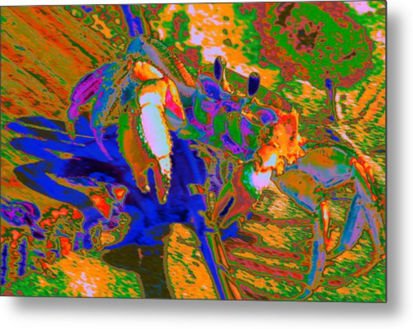 Abstract Crab 2 Metal Print