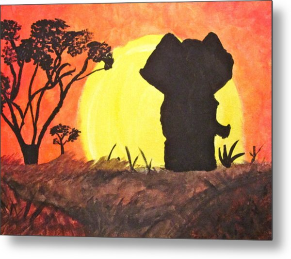 African Sunset Metal Print by Hannah Stedman