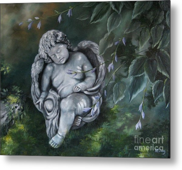 Angel In The Garden Metal Print