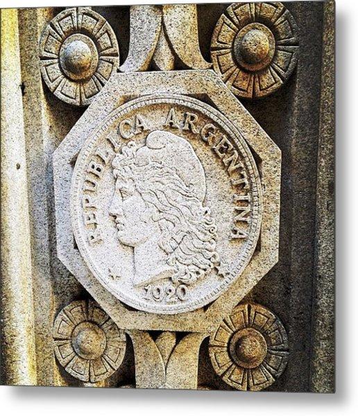 Art Deco Engraving Metal Print