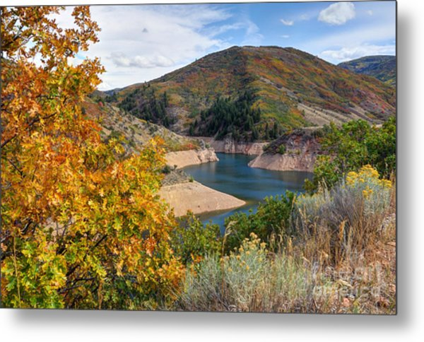 Autumn At Causey Reservoir - Utah Metal Print