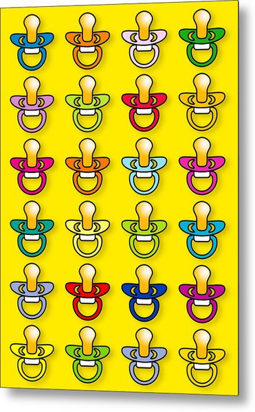 Babies' Dummies Metal Print by David Nicholls