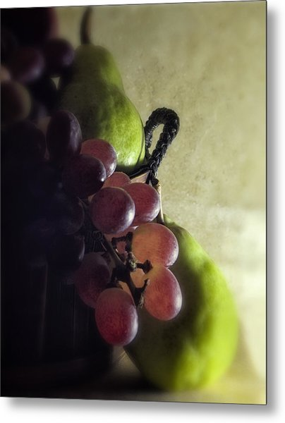 Back Lit Grape Still Life Metal Print by Andrew Soundarajan