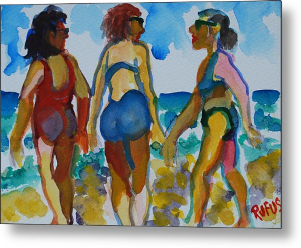 Beach Trio Metal Print