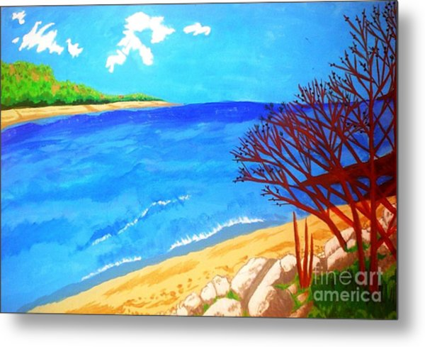 Beautiful Blue Lake Metal Print