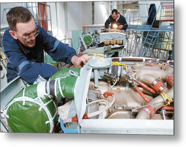 Beriev Be-103 Seaplane Assembly Metal Print by Ria Novosti