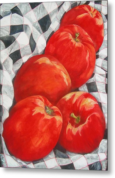 Metal Print featuring the painting Big Reds by Paula Robertson